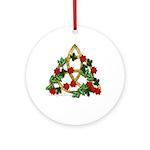 Triquetra Xmas Art Pendant - Ornament