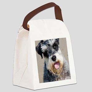 Schauzer dog Canvas Lunch Bag