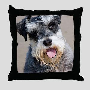Schauzer dog Throw Pillow