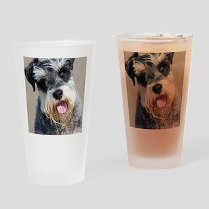 Schauzer dog Drinking Glass