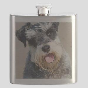 Schauzer dog Flask