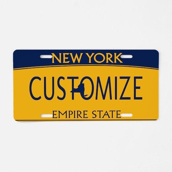 New York Custom Aluminum License Plate