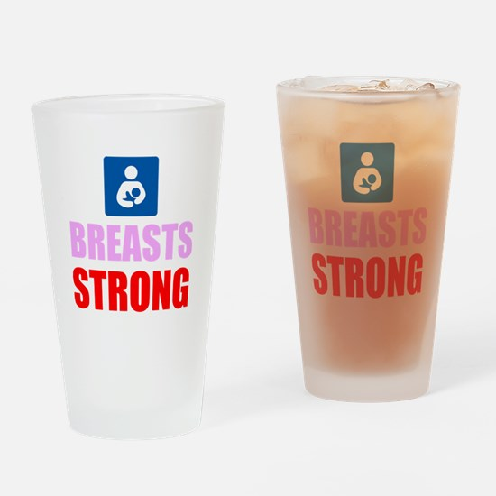 Breasts Strong Drinking Glass