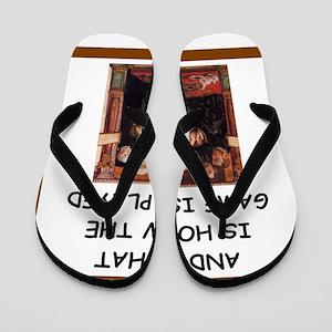 chess joke Flip Flops