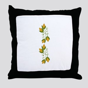 HARVEST CORN BORDER Throw Pillow
