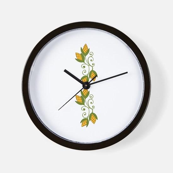HARVEST CORN BORDER Wall Clock