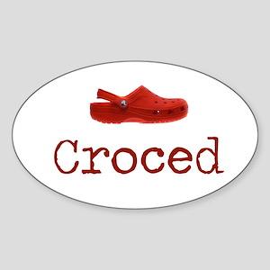 Croced Oval Sticker