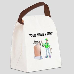 Custom Dog Trainer Canvas Lunch Bag