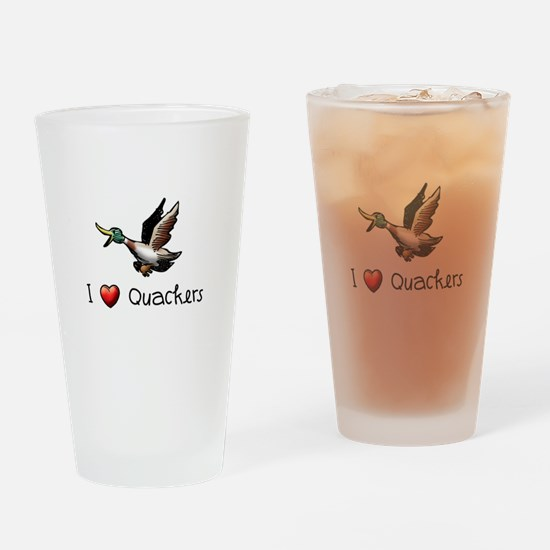 I-love-quackers.png Drinking Glass