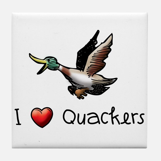 I-love-quackers.png Tile Coaster