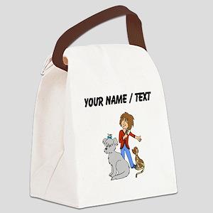 Custom Dog Groomer Canvas Lunch Bag