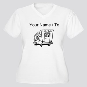 Custom Dog Catcher Plus Size T-Shirt