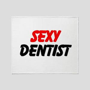 Sexy Dentist Throw Blanket