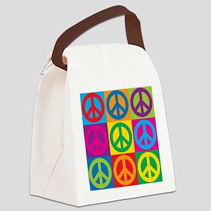 Pop Art Peace Canvas Lunch Bag