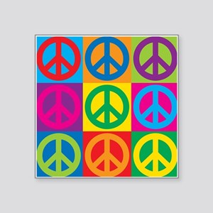 "Pop Art Peace Square Sticker 3"" x 3"""