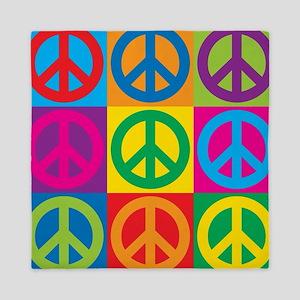 Pop Art Peace Queen Duvet
