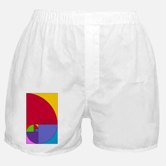 Fibonacci Mathlete Pop Art Boxer Shorts