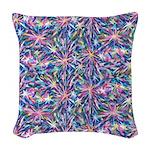 Star Burst Woven Throw Pillow