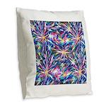 Star Burst Burlap Throw Pillow