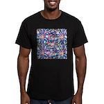 Star Burst Men's Fitted T-Shirt (dark)