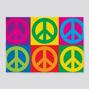 Pop Art Peace 5'x7'Area Rug