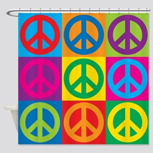 Pop Art Peace Shower Curtain