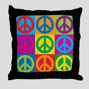 Pop Art Peace Throw Pillow