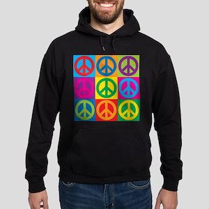 Pop Art Peace Hoodie (dark)
