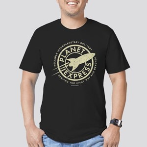 Planet Express Logo Men's Fitted T-Shirt (dark)