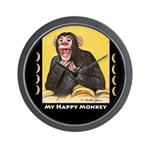 My Happy Monkey Wall Clock