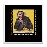 My Happy Monkey Tile Coaster