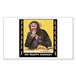 My Happy Monkey Rectangle Sticker