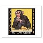 My Happy Monkey Small Poster