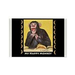 My Happy Monkey Rectangle Magnet (10 pack)