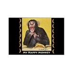 My Happy Monkey Rectangle Magnet