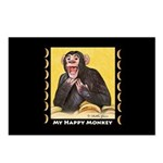 My Happy Monkey Postcards (Package of 8)