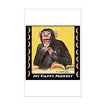 My Happy Monkey Mini Poster Print