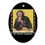 My Happy Monkey Oval Ornament