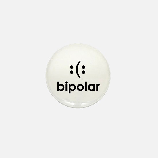 Bipolar Smiley Mini Button