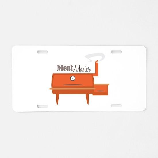 Meat Master Aluminum License Plate