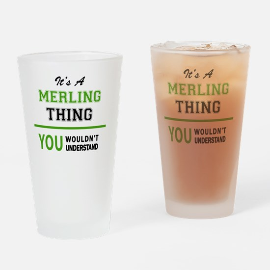 Cool Merl Drinking Glass