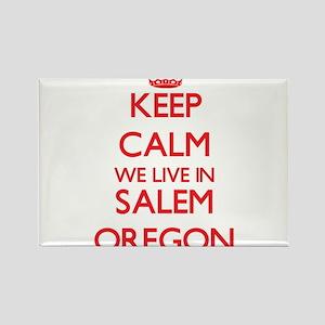 Keep calm we live in Salem Oregon Magnets