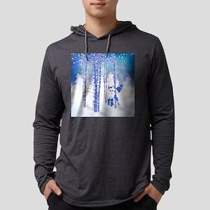 Blue Winter Snow Forest Fox An Long Sleeve T-Shirt
