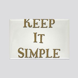 Keep It Simple 6 Rectangle Magnet