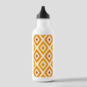 Ikat Pattern Orange Su Stainless Water Bottle 1.0L