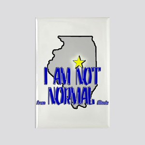 I am not (from) Normal (Illin Rectangle Magnet