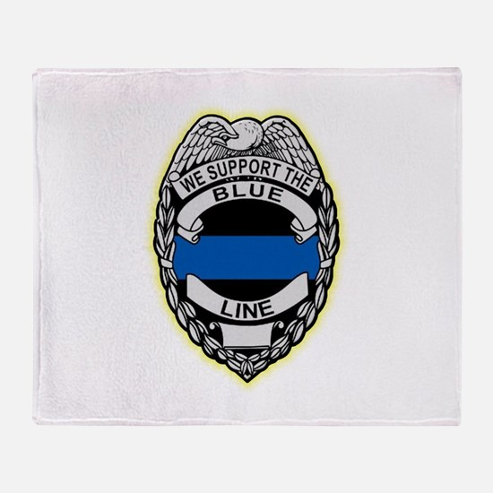Funny Law enforcement Throw Blanket