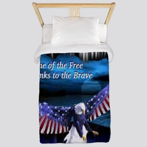 home of the free Twin Duvet