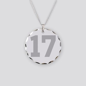 SILVER #17 Necklace Circle Charm