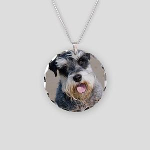 Schauzer dog Necklace Circle Charm